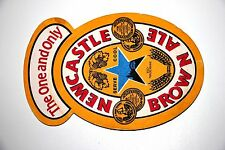 """THE ONE AND ONLY"" NEWCASTLE BROWN ALE   BEER BAR COASTER   3 3/4 BY 5 INCHES"