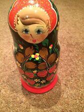 Beautiful Russian Wooden Doll 5 Piece Set