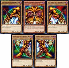 YUGIOH: EXODIA THE FORBIDDEN ONE 5 CARD SET 1ST EDITION LDK2 COMPLETE NM