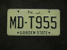 !970s -1980s New Jersey License Plate