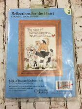 Milk Of Human Kindness Cross Stitch Candamat Designs 5106 Cat Cow 5x7