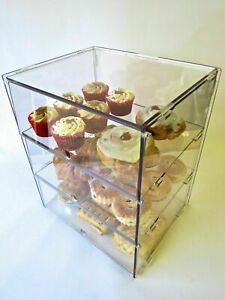 Bakery Case Display Ideal for Cakes, Doughnuts Pastries etc. 3 sizes & 4 Options