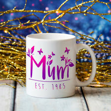Mum Butterly Flower Jumbo Big Large 20oz Birthday Mothers Coffee Cup Gift