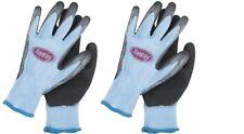 Berkley Fishing Coated Grip Gloves Blue/Grey 2 Pr ~ New