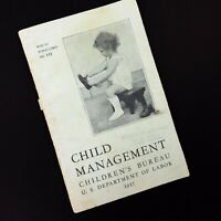 Vintage Child Management Booklet from US Dept of Labor Children's Bureau 1937