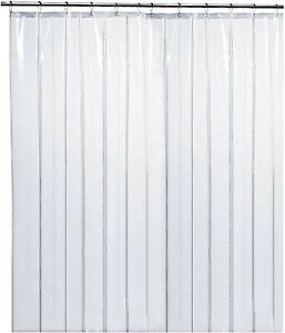 White Fabric Shower Curtain liner, Mildew Resistant and Antimicrobial, 70x72