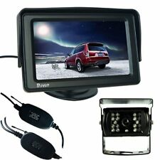 "Wireless Auto Videocamera Posteriore NOTTE 18 IR LED Reverse 4.3"" TFT LCD monitor T002"