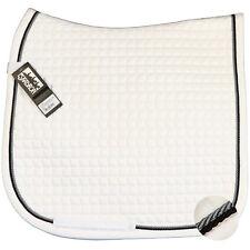 ESKADRON Cotton Schabracke white, 2fach Kordel schwarz/silberfarben