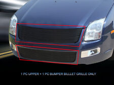 Fits 2006-2009 Ford Fusion Black Billet Grille Grill Combo Grill