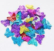 60pcs Sequins Butterfly Mixed Applique Holiday Costume Sewing Craft #9