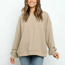 Women's Hooded Pullover Long Sleeve Loose Jumpers Sweater Casual Tops Oversize