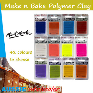 AU Mont Marte Make n Bake Polymer Clay 60g Pack 42 colours christmas gift Craft