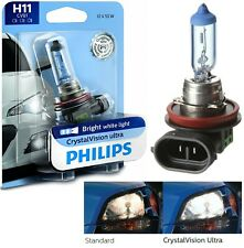 Philips Crystal Vision Ultra H11 55W One Bulb Head Light Low Beam Replacement OE