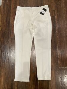 Nike Mens Flex Vapor Slim-Fit Golf Pants White Size 34X30 #BV0273-133 NEW $90