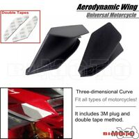 Pair Black Motorcycle Winglet Aerodynamic Wing For Yamaha Honda SUZUKI KAWASAKI
