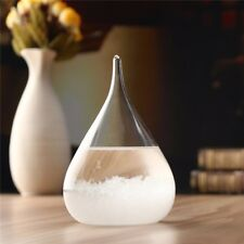 Weather Forecast Crystal Drop Water Shape Storm Glass Decor Christmas Xmas Gift