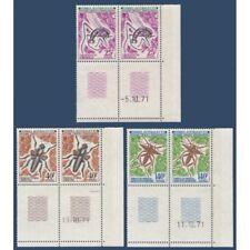 TAAF N°_40-42 SERIE DES INSECTES, TIMBRES POSTE DE 1972