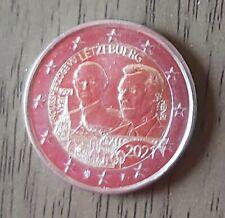 2 EURO COMMEMO LUXEMBOURG 2021 100 ANS ANNIV GRAND DUC VERSION PHOTO