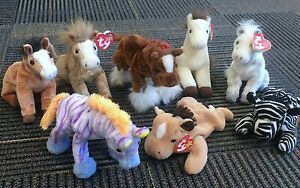 Ty Beanie Babies - Horses - Lot of 8