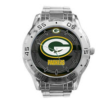 Green Bay Packers NFL Stainless Steel Analogue Men's Watch Gift