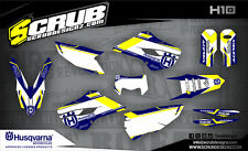 SCRUB Husqvarna graphics kit TE 125 250 300 2014 - 2015 Enduro Husky '14-'15