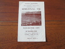 1955 FA CUP SEMI-FINAL MANCHESTER CITY v SUNDERLAND