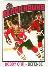 Custom made Topps 1976-77 Chicago Black Hawks Bobby Orr Hockey  card 1