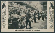 Reichspost Flagge Kaiserliches Feldpostamt Berlin Militär Paketsortierung DRP 14