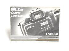 Canon EOS Quartz Date Back E Bedienungsanleitung
