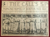 "BABE RUTH 1917 -""Red Sox"" Newspaper Photo (Scarce / Vintage)🔥Incredible Image🔥"