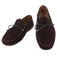Fiori Di Lusso Rouge Bordeaux Daim Dentelle Conduite Chaussures - (6A)