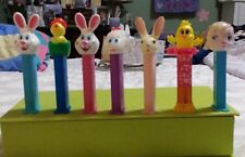 7 Easter Pez Dispensers, (3) Rabbits, (2) Lambs, (2) Chicks   Different