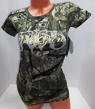 NWT~CABELAS~GIRLS WITH GUNS WOMENS MOSSY OAK TREESTAND CAMO T-SHIRT TOP TEE