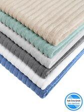 Chunky Ribbed Luxury Turkish Cotton Bath Towels Set of 2