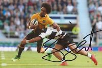 AUSTRALIA RUGBY: HENRY SPEIGHT SIGNED 6x4 ACTION PHOTO+COA *WALLABIES*