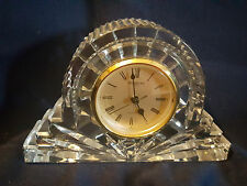 Waterford Crystal Mantle Clock, Quartz - Wharton Pattern, Made in Japan
