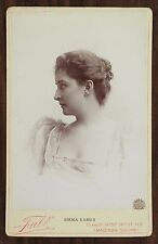 Emma Eames, American soprano, Opéra, Cabinet card, Photo Falk New York