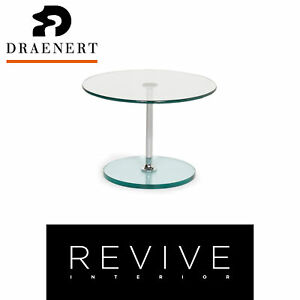 Draenert Largo 1010 Glass Table Silver Coffee Table #13067