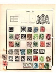 DENMARK USED STAMPS ON ALBUM PAGE  (mb10