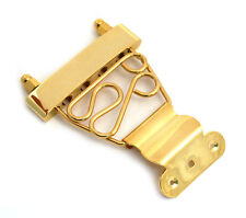 Gold Short Deluxe Trapeze Tailpiece Hollowbody/Archtop/Jazz Guitar TP-DTS-G