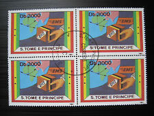 S.Tome E Principe MiNr. 1301 Viererblock gestempelt  (H 176)