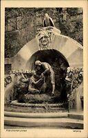 Leipzig Sachsen AK ~1920/30 Dittrichring Märchenbrunnen Brunnen Hänsel Gretel