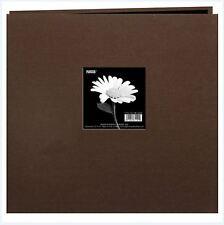 Pioneer Photo Album ~Postbound 12x12 Earthtone Broadcloth Frame CHOCOLATE BROWN