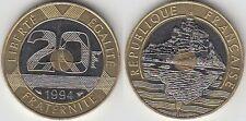 Gertbrolen 20 Francs Mont Saint-Michel 1994 Différent Abeille