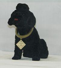 Wackel Figur Hund Pudel schwarz gross Höhe 20 cm Figur Wackelkopf Kunststoff