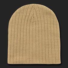New Khaki Cable Short Beanie Knit Hat Winter Cap Ski Skull Beanies Hats 8 COLORS