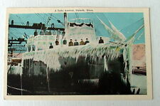 SHIP COVERED IN ICE A LATE ARRIVAL DULUTH MINNESOTA POSTCARD MN