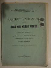 L 100801 Foscarini notiziario nobili e feudatari lecce brindisi taranto 1927