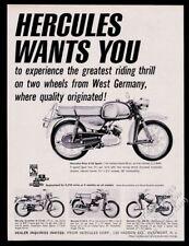 1967 Hercules Sachs Prior K-50 Sport motorcycle photo vintage print ad