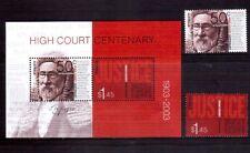 AUSTRALIA 2003 High Court cent min sheet + set MUH